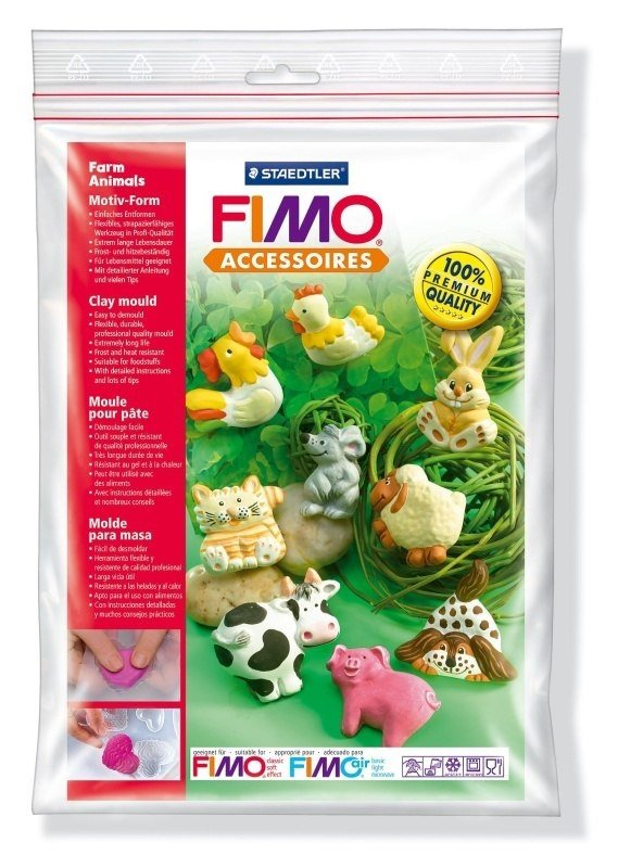 "Fimo Silikonová forma ""Farm animals"""