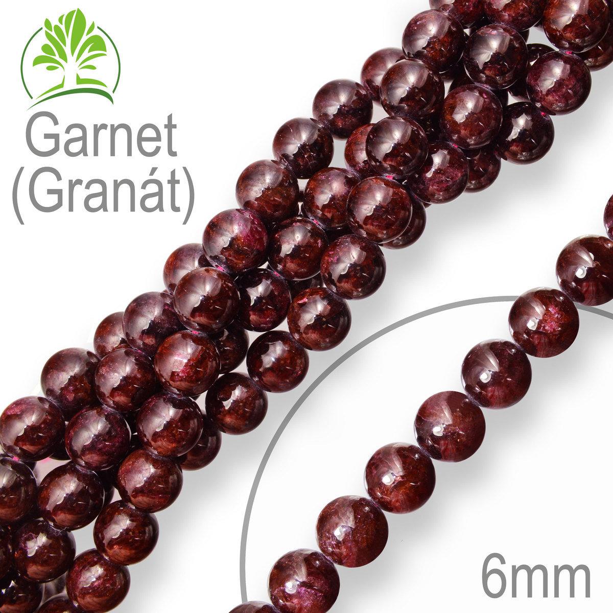 2a2767ca0 Korálky z minerálů Garnet (Granát) přírodní polodrahokam. Velikost ...