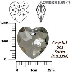 SWAROVSKI 6215 CRYSTAL SATIN  18mm