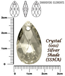 SWAROVSKI 6106 CRYSTAL SILVER SHADE 28mm