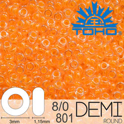 TOHO Demi Round 8-0 color 801