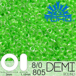 TOHO Demi Round 8-0 color 805