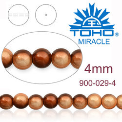 MIRACLE beads JAPAN 4mm 029 BRONZE TWO TONE