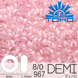 TOHO Demi Round 8-0 color 967