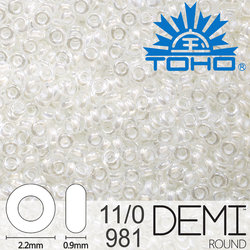 TOHO Demi Round 11-0 color 981