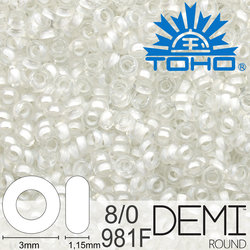 TOHO Demi Round 8-0 color 981F