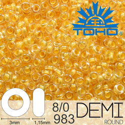 TOHO Demi Round 8-0 color 983