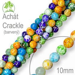 Korálky 10mm z minerálů Achát Crackle barvený balení 8ks 0468cf7eb3