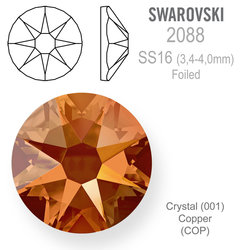 SWAROVSKI Foiled SS16 CRYSTAL COPPER