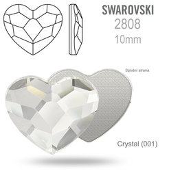 Swarovski 2808 Heart Flat Back CRYSTAL 10mm