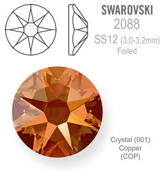 SWAROVSKI Foiled SS12 CRYSTAL COPPER