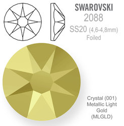 SWAROVSKI Foiled SS20 METALLIC LIGHT GOLD