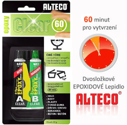 Lepidlo ALTECO EPOXY Clear 60 min  40g