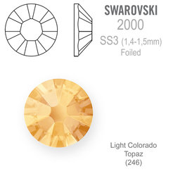 SWAROVSKI FOILED SS3 LIGHT COLORADO TOPAZ