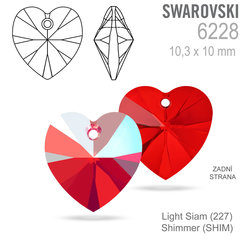 Swarovski 6228 Light Siam Shimmer 10x10mm