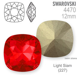 Swarovski Fancy Stone 4470 Light Siam 12mm