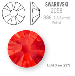 SWAROVSKI Foiled SS8 LIGHT SIAM