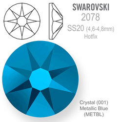 SWAROVSKI Hotfix SS20 CRYSTAL METALLIC BLUE