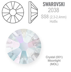 SWAROVSKI Hotfix SS8 CRYSTAL MOONLIGHT