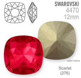 Swarovski Fancy Stone 4470 Scarlet 12mm