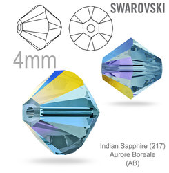 SwarovskiI 5328 XILION Bead Indian Sapphire Aurore Boreale 4mm