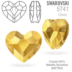 Swarovski 5741 Love Bead Crystal (001) Metallic Sunshine (METSH) 12mm