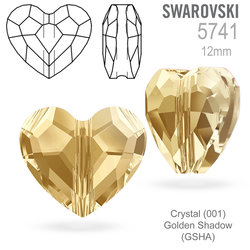 Swarovski 5741 Love Bead Crystal Golden Shadow 12mm