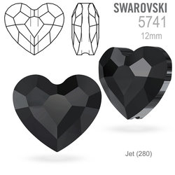 Swarovski 5741 Love Bead Jet 12mm