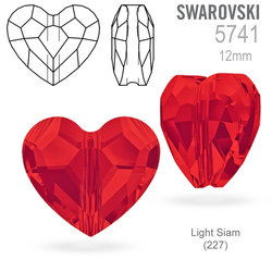 Swarovski 5741 Love Bead Light Siam (227) 12mm