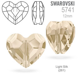Swarovski 5741 Love Bead Light Silk 12mm