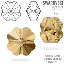 Swarovski 5752 Clover Bead Crystal Golden Shadow 8mm
