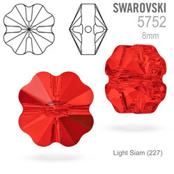 Swarovski 5752 Clover Bead Light Siam 8mm