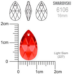 Swarovski 6106 Light Siam 16mm