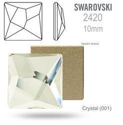 SWAROVSKI Asymmetric Square 2420 CRYSTAL 10mm