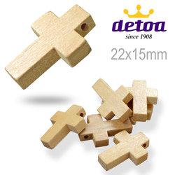 Křížek dřevěný 22x15mm barva přírodní 601 d7488f7202