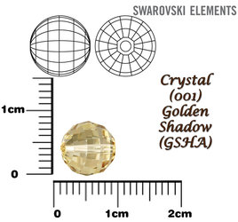 SWAROVSKI 5005 Chessboard Bead GOLDEN SHADOW