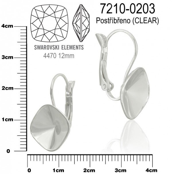 Náušnice na komponenty SWAROVSKI 4470 12mm. Ozn.7210-0203 . Barva ... 742aef0f2f9
