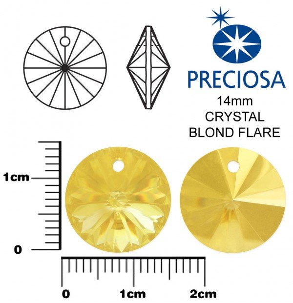 PRECIOSA MC RIVOLI 14mm CRYSTAL BLOND FLARE
