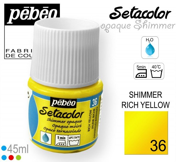 SETACOLOR OPAQUE SHIMMER 36 RICH YELLOW