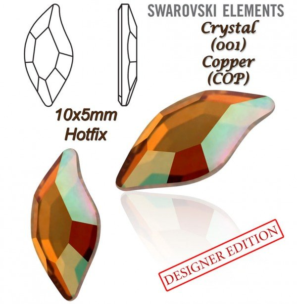 SWAROVSKI 2797 HOTFIX 10x5mm CRYSTAL COPPER