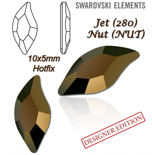 SWAROVSKI 2797 HOTFIX 10x5mm JET NUT