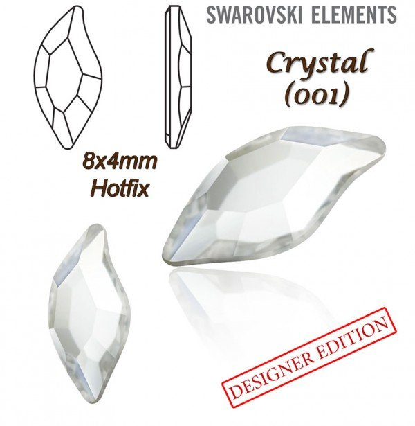 SWAROVSKI 2797 HOTFIX 8x4mm CRYSTAL