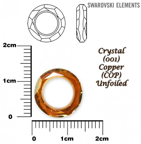 SWAROVSKI 4139 COPPER 14mm