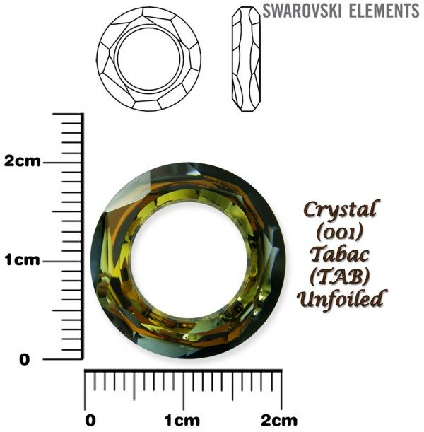 SWAROVSKI 4139 CRYSTAL TABAC  20mm