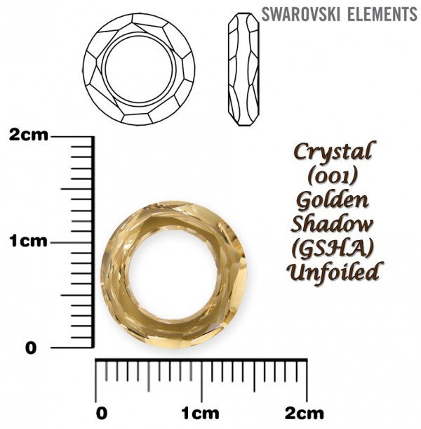 SWAROVSKI 4139 GOLDEN SHADOW 14mm