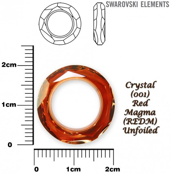 SWAROVSKI 4139 RED MAGMA 20mm
