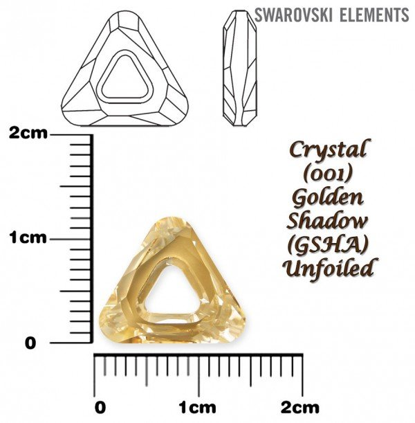 SWAROVSKI 4737 GOLDEN SHADOW 14mm