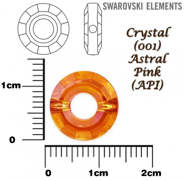 SWAROVSKI 5139 RING Bead ASTRAL PINK 12mm