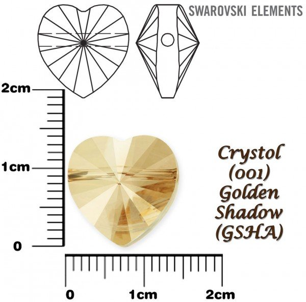 SWAROVSKI 5742 CRYSTAL GOLDEN SHADOW 14mm