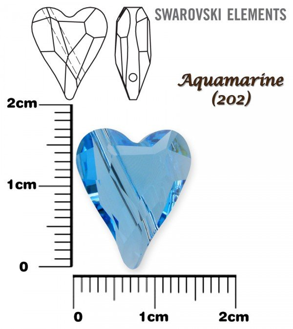 SWAROVSKI 5743 AQUAMARINE  17mm